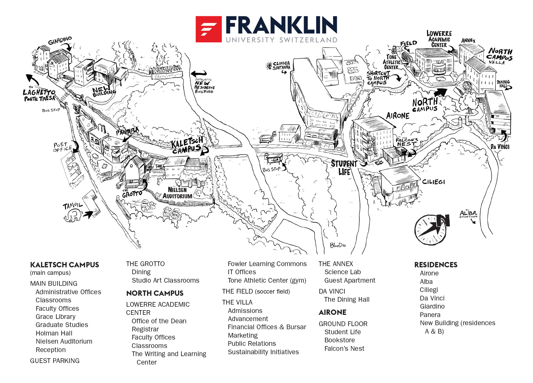 franklin university campus map Campus Maps Fus franklin university campus map