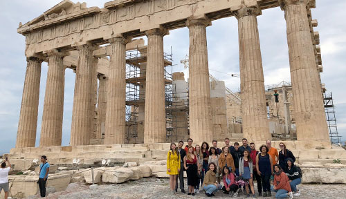 Student attends Athens Democracy Forum